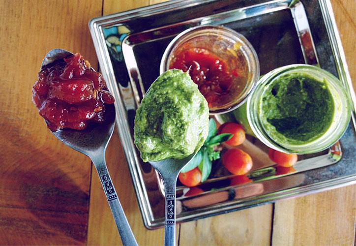 jalea, tomates, cebolla, vino