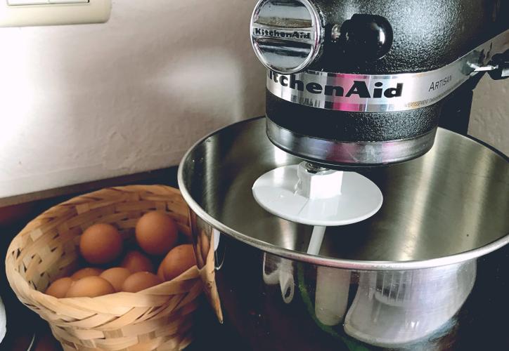 inversion, cocina, kitchen aid, sarten, hierro, cuchillo, cast iron skillet