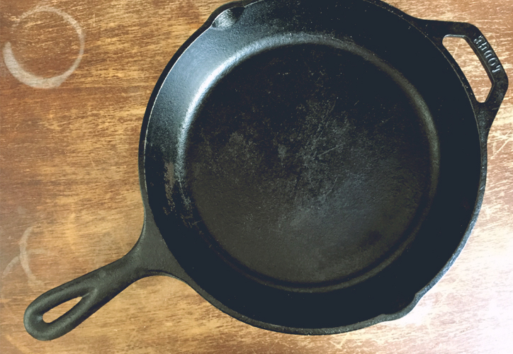 inversion, cocina, kitchen aid, sarten, hierro, cuchillo, cast iron skillet