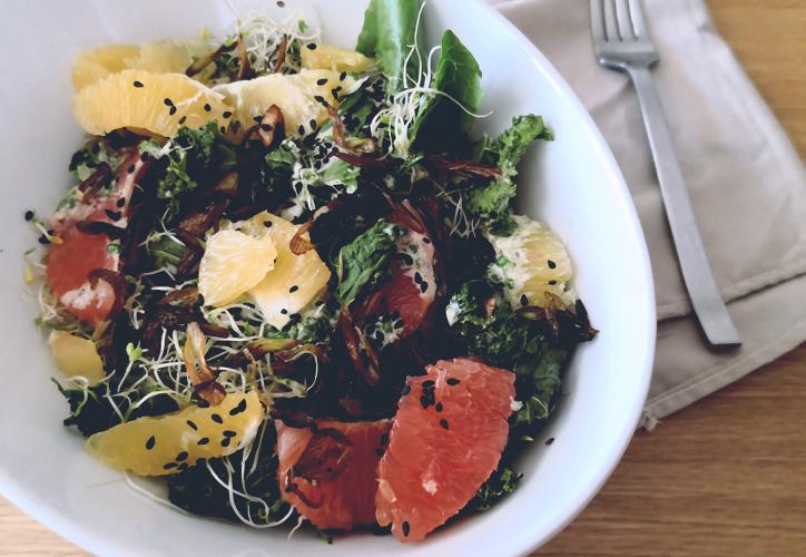 ensalada, improvisar, remolacha, lentejas, pera, hierbas, nueces, despensa, coliflor, tomates, anchoas